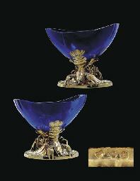 A PAIR OF LOUIS XVI SILVER-GIL