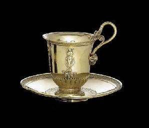 A FRENCH SILVER-GILT CUP AND S