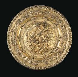 A GEORGE III SILVER-GILT SIDEB