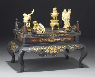 A Japanese sectional ivory and