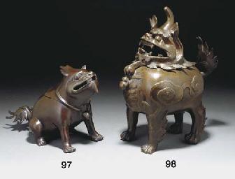 A Chinese bronze censer modell