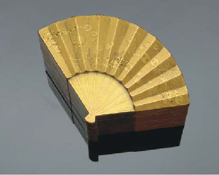 A Japanese lacquer two-tiered