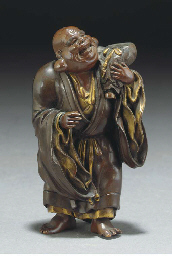 A Japanese bronze model of a B