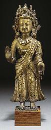 A Nepalese gilt bronze model o