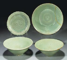 An inlaid celadon Korean bowl,