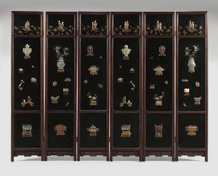 **AN INLAID AND GILT-LACQUER H