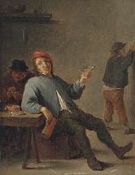 A boor smoking in an interior