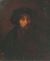 A bearded man, bust-length, wi