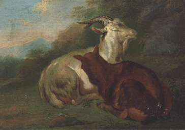 Goats in a landscape