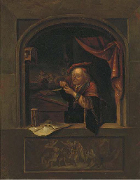 A man at an alcove