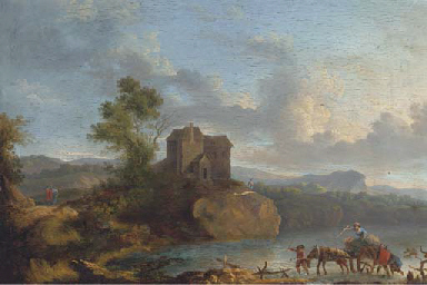 A landscape with travellers cr