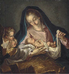 The Virgin and Child with cher