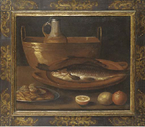 Fish on an earthenware platter