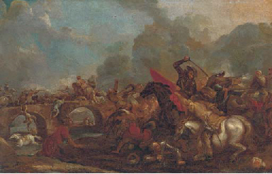 A cavalry skirmish between Chr