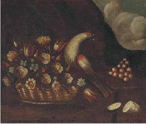 A basket of flowers and a parr