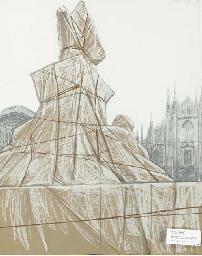 Wrapped Monument to Vittorio E