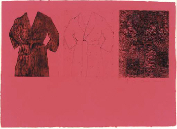 Etching, Self Portrait (red) (