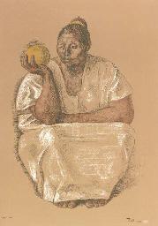 Mujer con Naranja: Two Impress