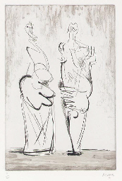 Two Standing Figures No XII (C