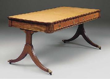 A MAHOGANY WRITING TABLE