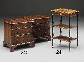 A PAIR OF OYSTER-VENEERED AND