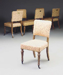 A SET OF SIX VICTORIAN OAK DIN