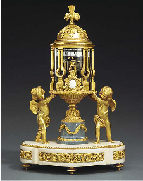 A Louis XVI style ormolu and m