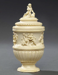 A German carved ivory cup and