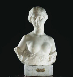 An Italian white marble bust e