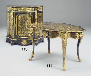 A French ormolu-mounted and cu