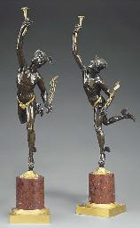 A pair of Napoleon III ormolu,