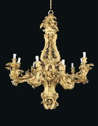 A Louis XV style ormolu nine-l