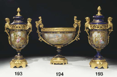 An ormolu-mounted Sevres-style