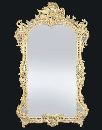 A Regence style giltwood mirro