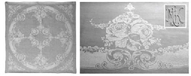 (13) A set of twelve damask li