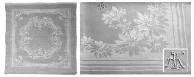 (15) A set of twelve damask li