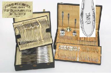 (91) A German silver flatware