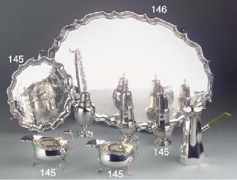 (5)  An English silver salver,