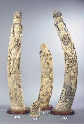 A large Chinese ivory figure o