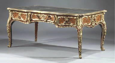 A FRENCH ORMOLU-MOUNTED MARQUE