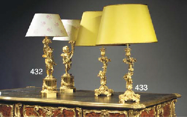 (2)  A PAIR OF FRENCH ORMOLU T