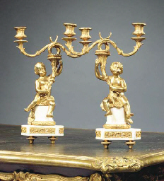 (2) A PAIR OF FRENCH ORMOLU AN