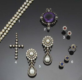 A 19th century amethyst and ro