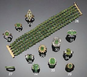 An emerald bead bracelet