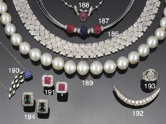 A ruby, sapphire and diamond n