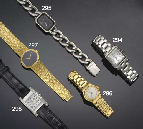 A lady's stainless steel and d
