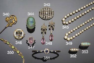 A Victorian half-pearl five st