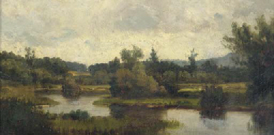 Quiet river landscape