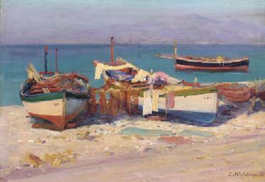 Fishing boats onshore