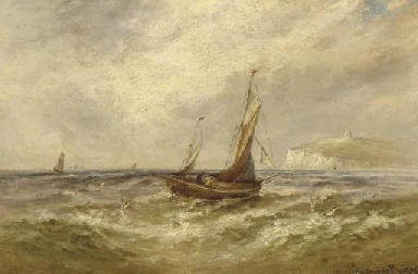 The English Channel with sailb